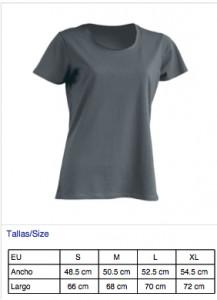 Camiseta chica azul oscuro
